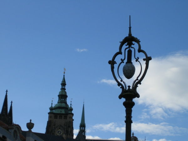 lamp at the sky