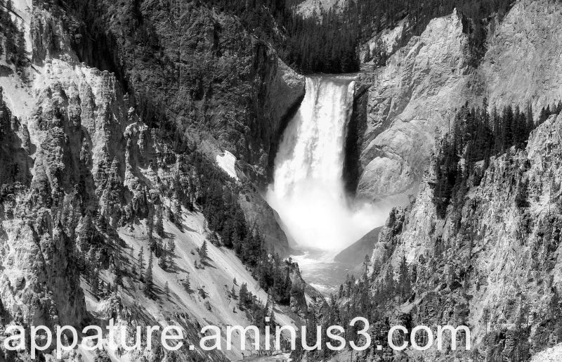 Waterfall  Yellowstone