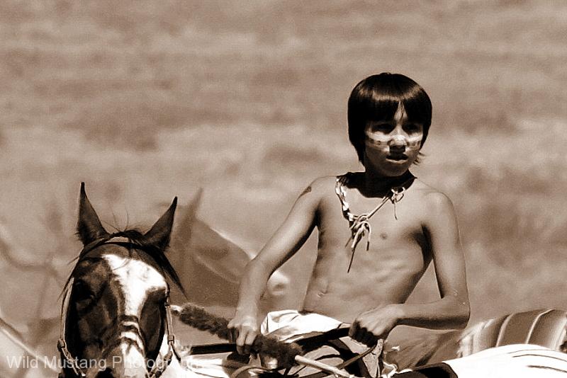 Native American Warrior boy