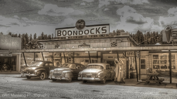 Cars    restaurant    Drive in   HDR