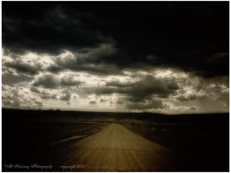 clouds  road prairie