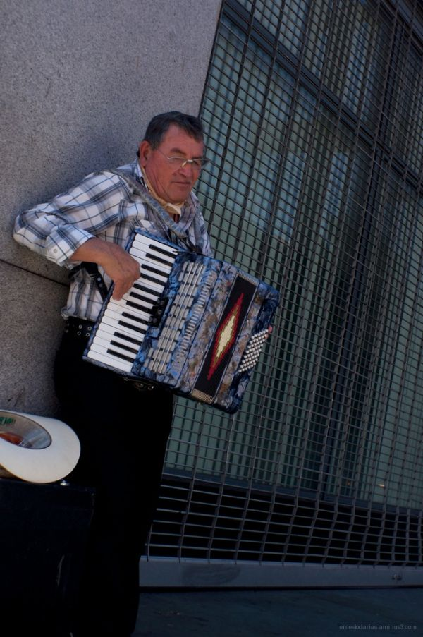 Old Man Playing Accordion