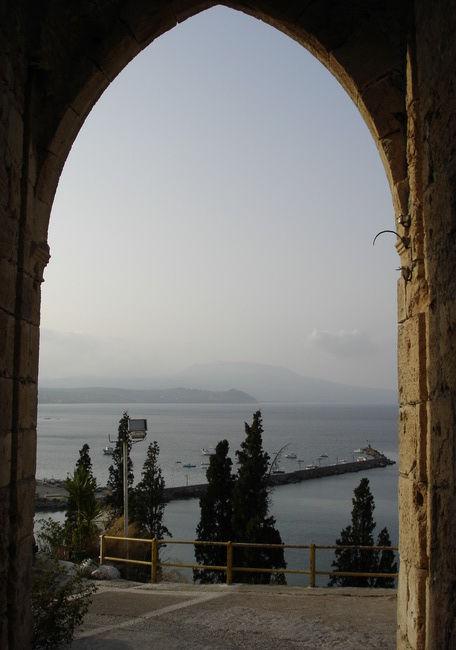 Brume du soir sur la mer Egée.