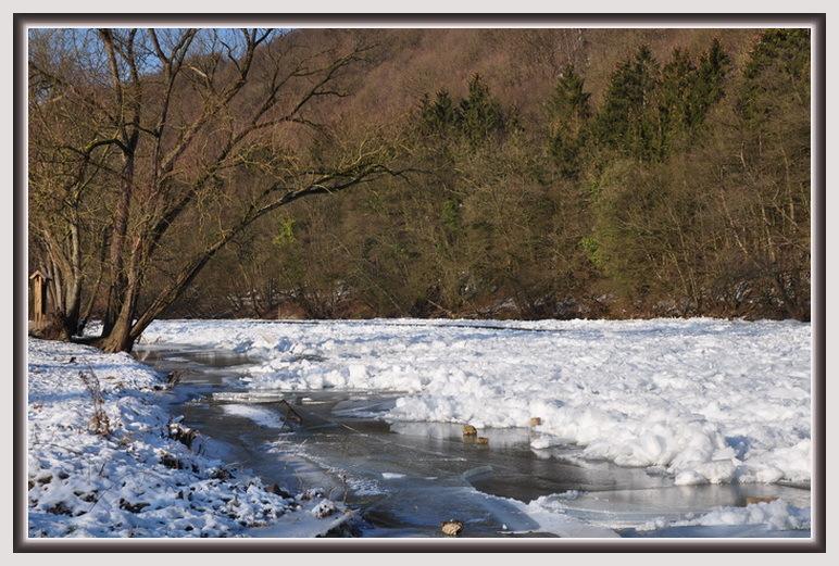 La rivière gelée.