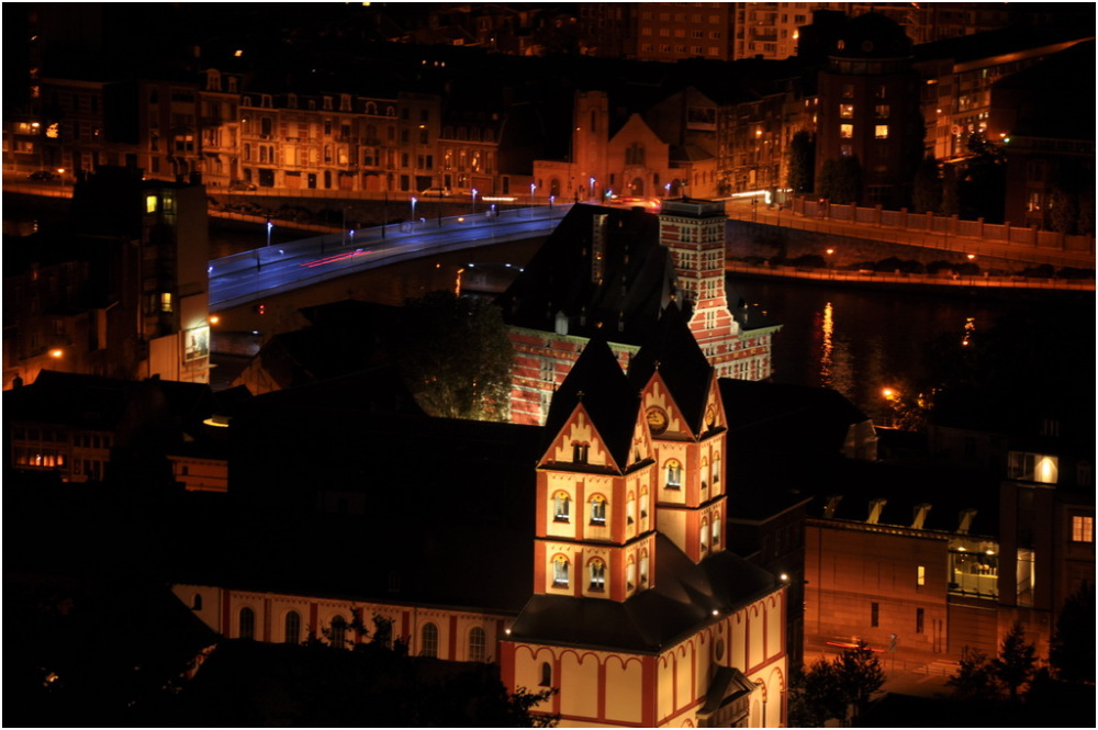 Liège la nuit.