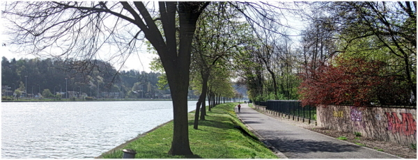 Jogging le long de la Meuse