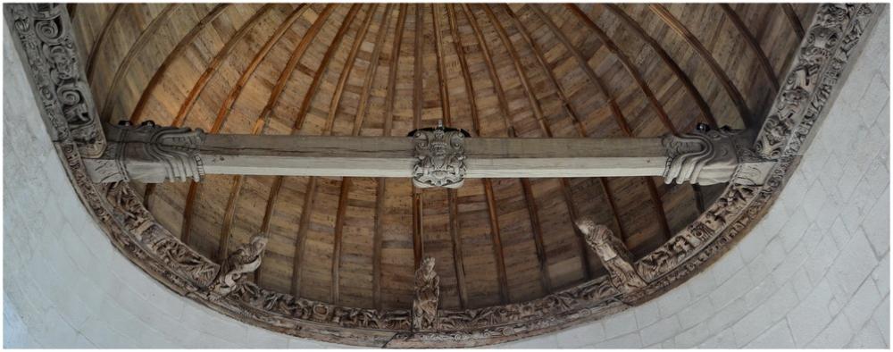 Plafond de la chapelle de Kerjean
