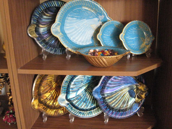 fish designed dish and plates set
