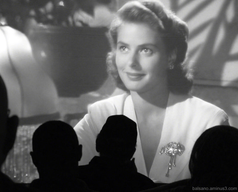 and... Bergman in Casablanca