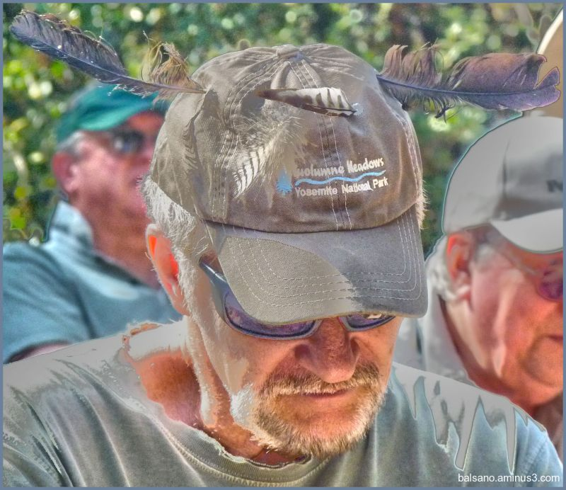 """the """"feathers in the baseball cap """" hat ~ 3"""
