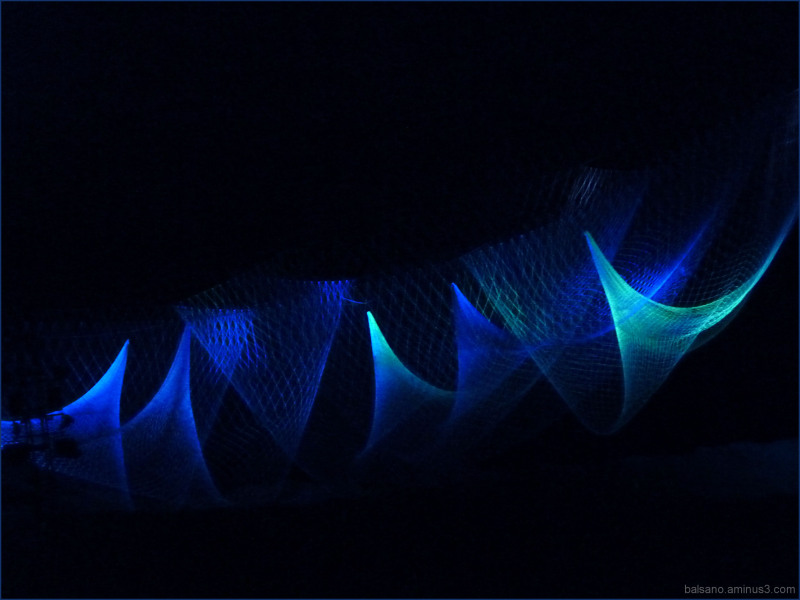 the blue light lands