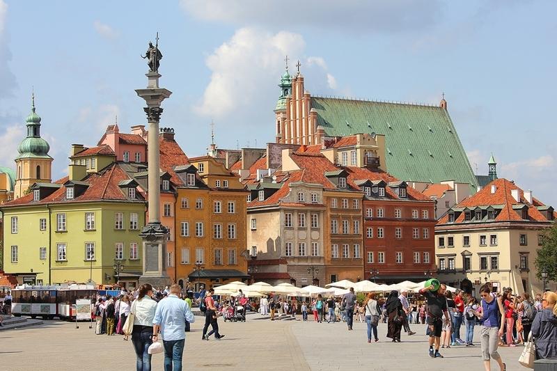 warsaw varsovie old town vielle ville poland