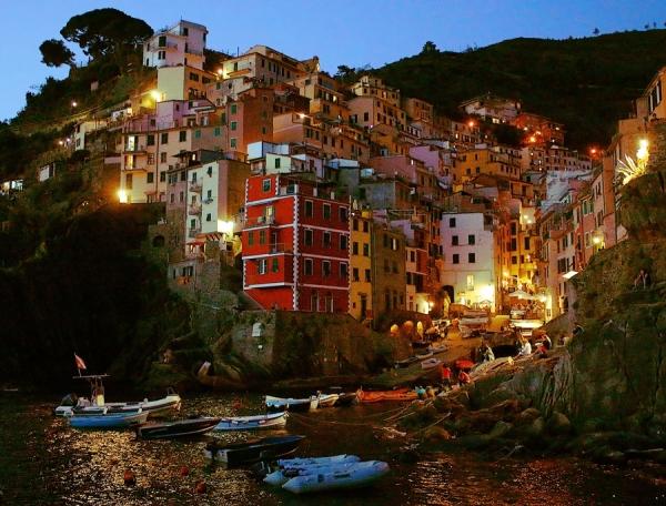 Heure bleue à Riomaggiore (Cinque Terre)