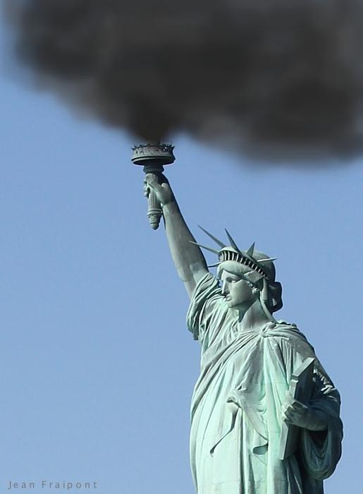 """Liberty lightning the world""."