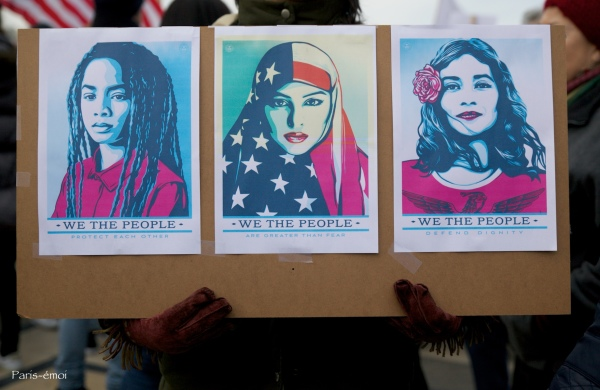 Shepard Fairey  (aka Obey) for Women 's march