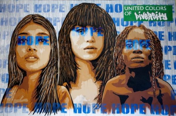 Diversity is hope ! by Raf urban
