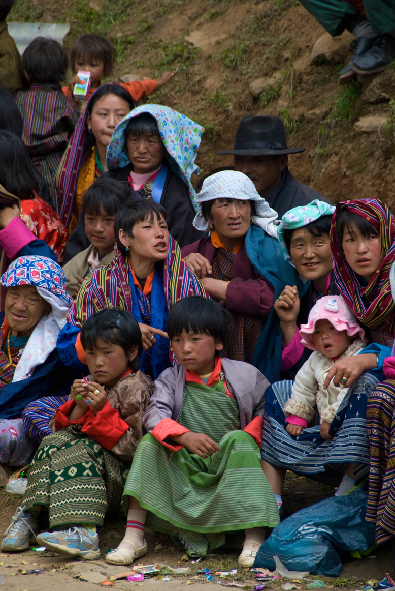 Crowd at Ura Festival, Bhutan