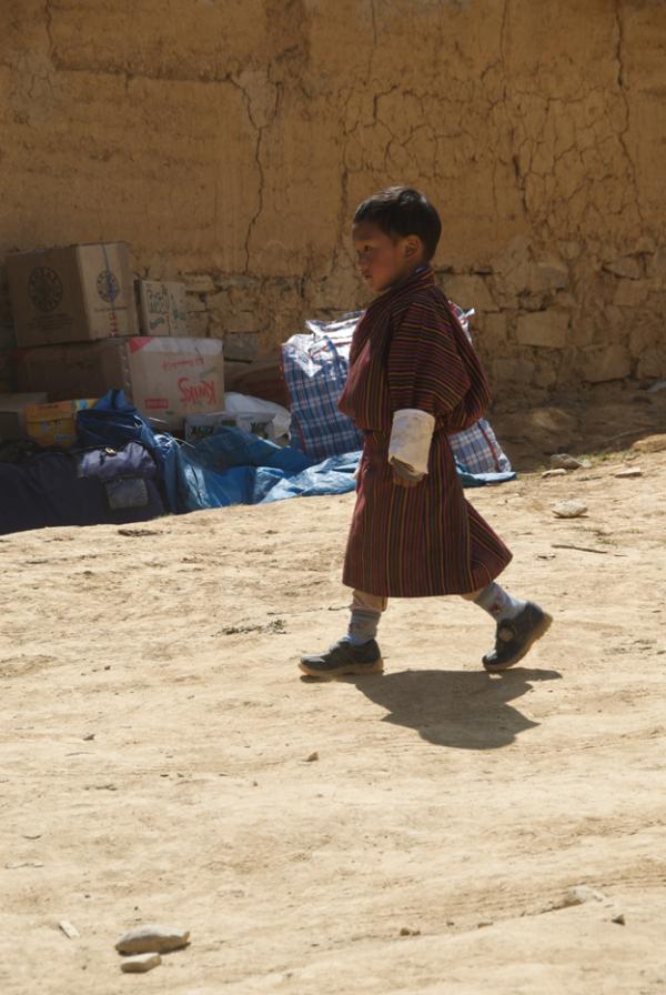 Little boy in traditional tho - Bhutan