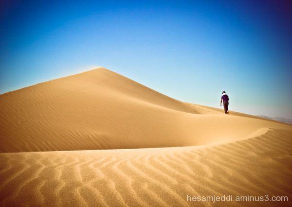 along desert ...
