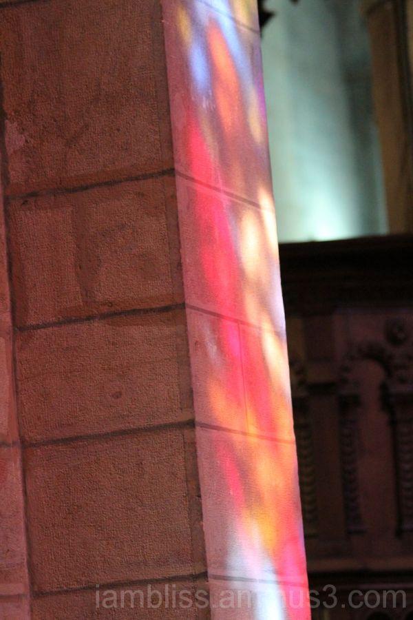 Light through stainwindows