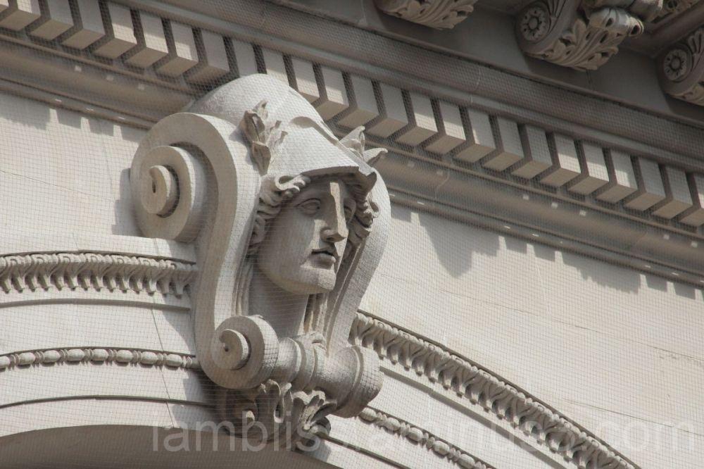 Sculpture above the MET entrance