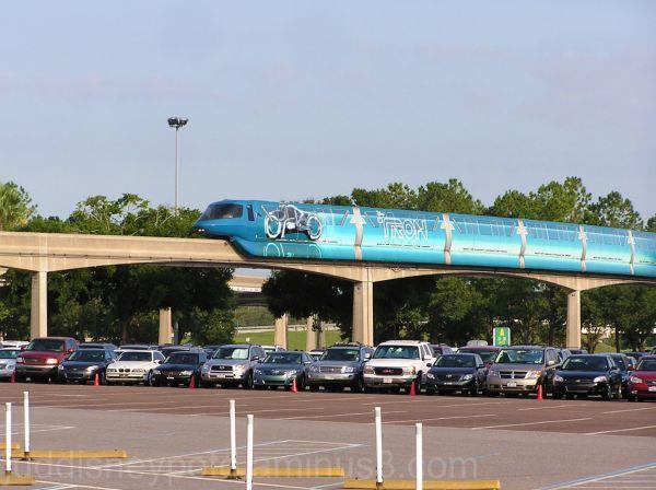 WDW, Jud, Epcot, Monorail, Tron o rail, TRON