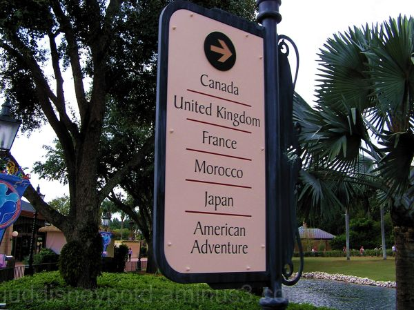 Jud, Epcot, World Showcase, Sign