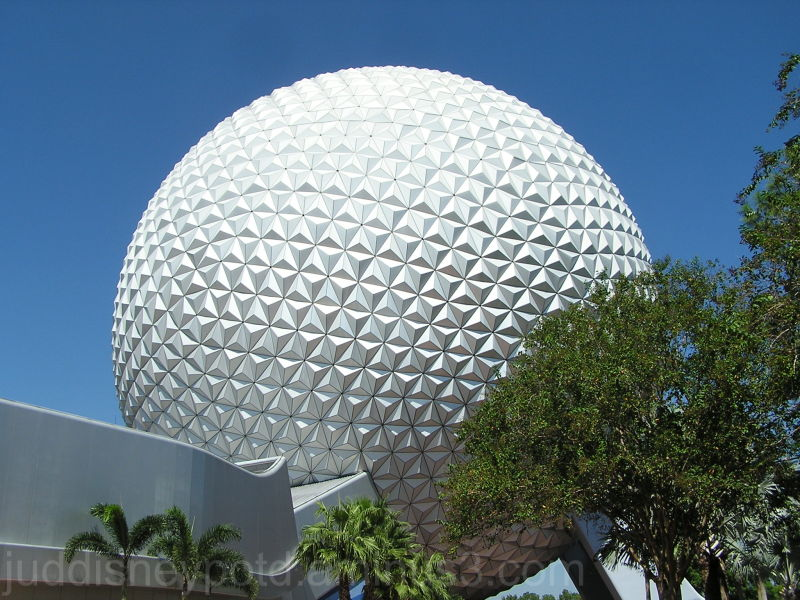 Jud, Epcot, Big Ball, Space Ship Earth