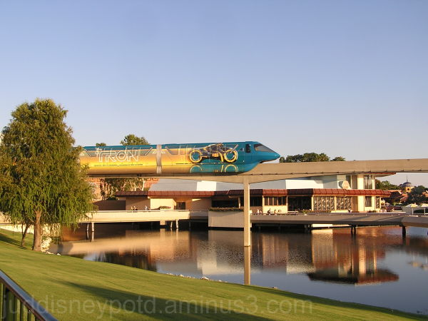 Epcot, World Showcase, Tronorail, Tron, Monorail,