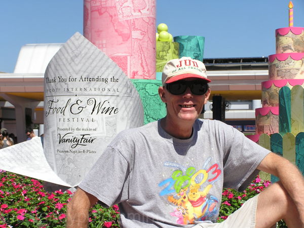 Jud, Epcot, Food & Wine, portrait