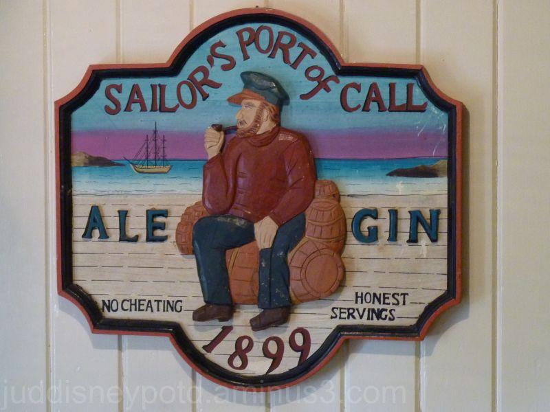 Magic Kingdom, Columbia Harbor House, Carved Sign