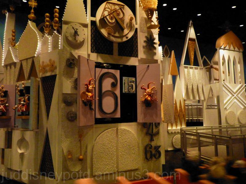 Disney, Jud, Magic Kingdom, Small World, Clock