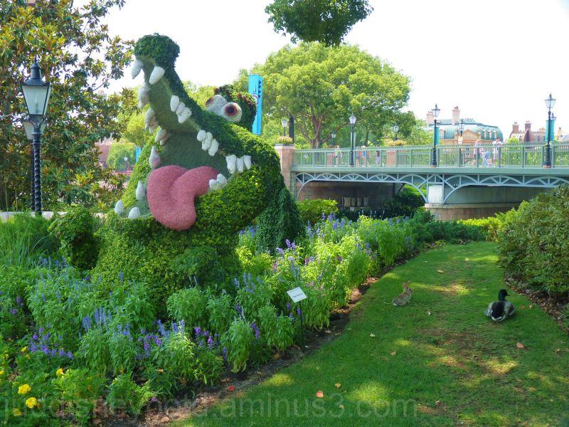 Epcot, World Showcase, Flower & Garden, Croc, Jud
