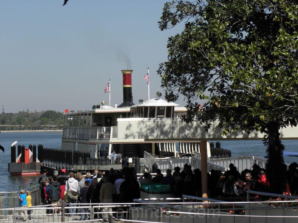 Jud, Disney, Ferry to The Magic Kingdom