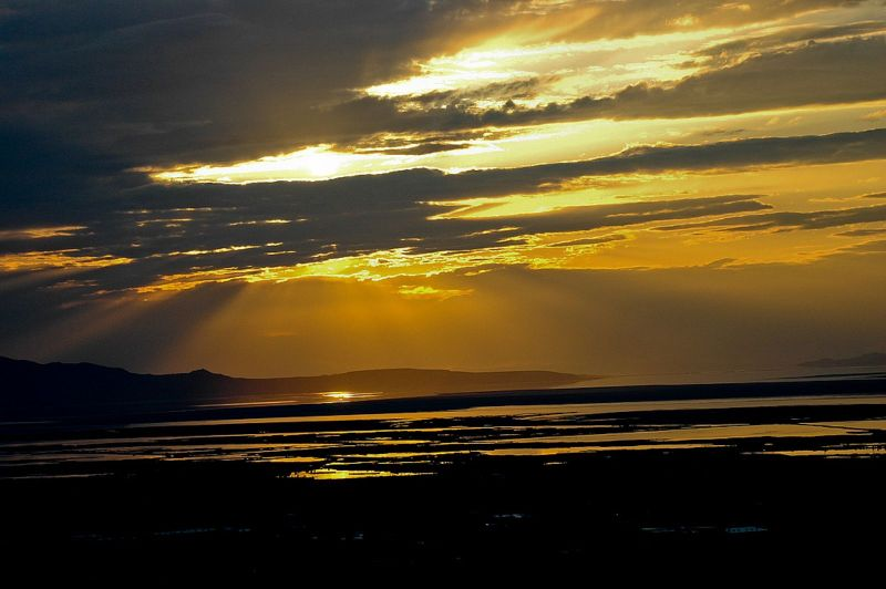 Sun Over the Great Salt Lake