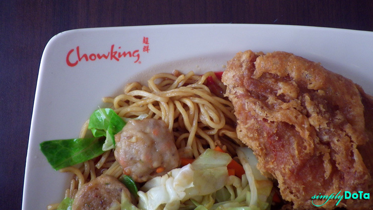Chowking meal