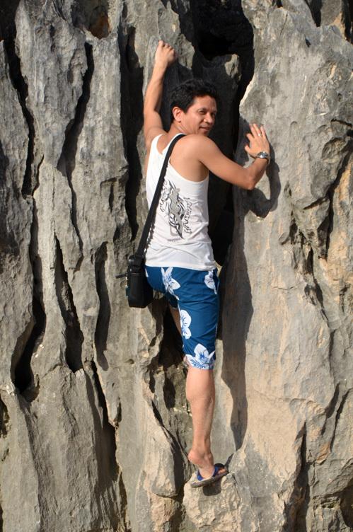 Climbing the Limestone Wall
