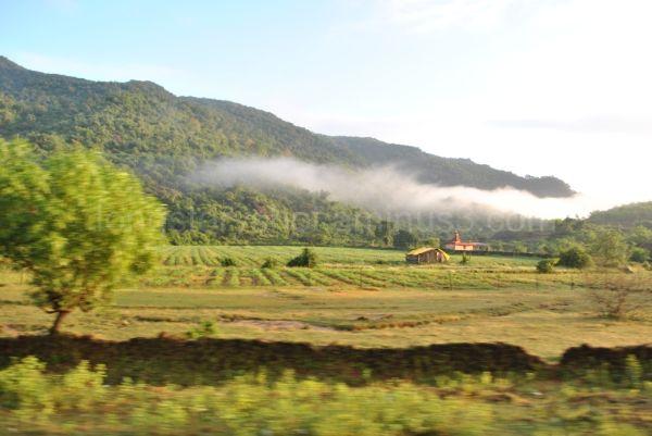 The mist lifts itself.