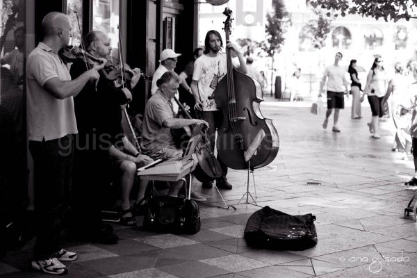 Buskers in Madrid