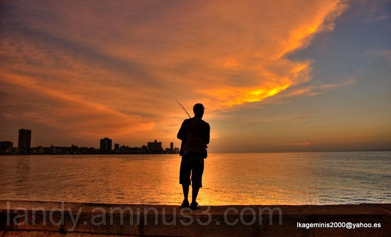 Malecon,Pescadores,Habana,Cuba