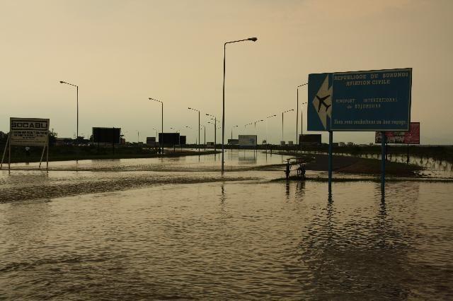 Bujumbura's airport under water