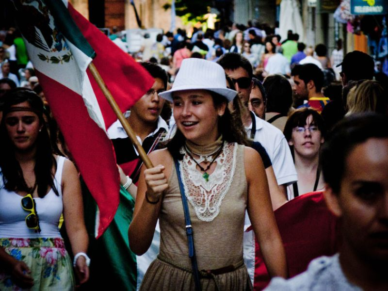 Peregrinos en Salamanca