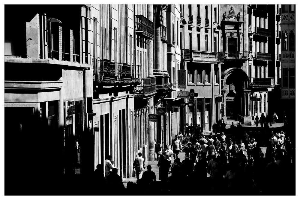 black and white street IV