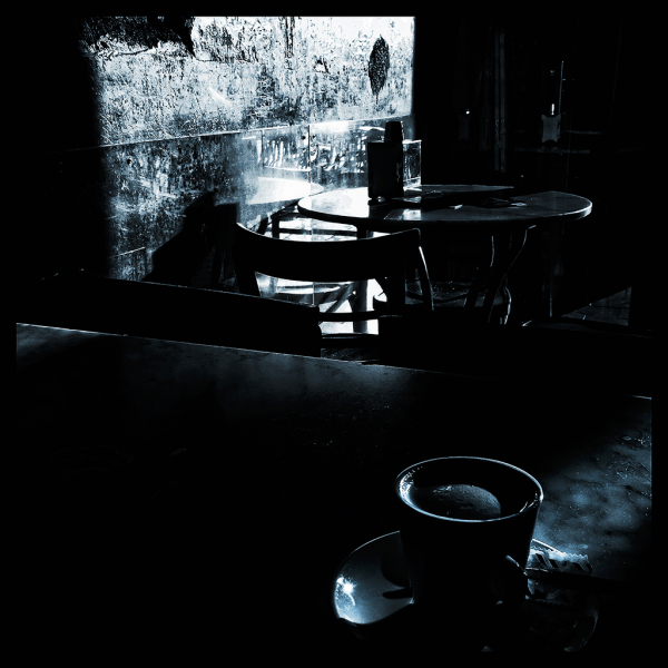 coffee with light