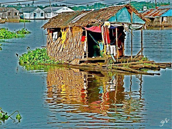 L'eau, lieu de vie (III) - Sur le Mekong