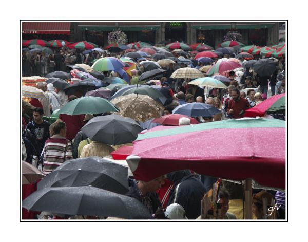 Les parapluies de la Grand-Place