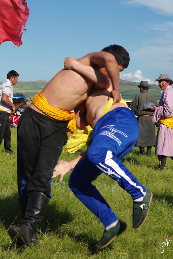 Les lutteurs / The wrestlers