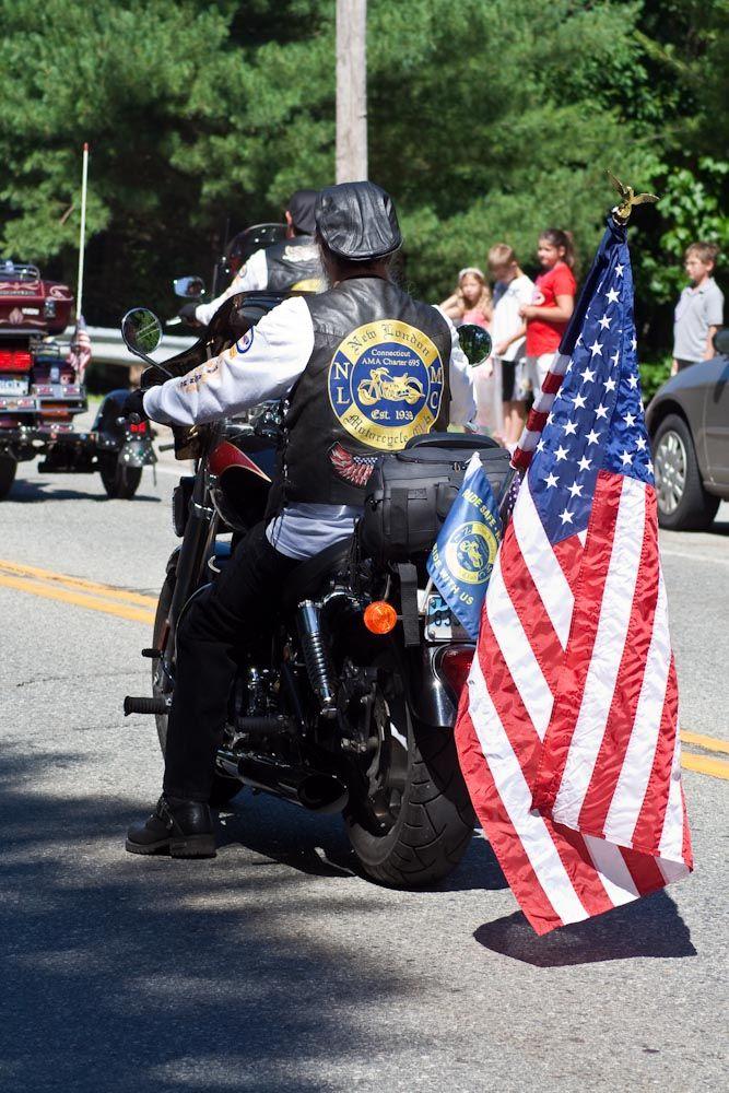 Patriot Guard rider at local parade