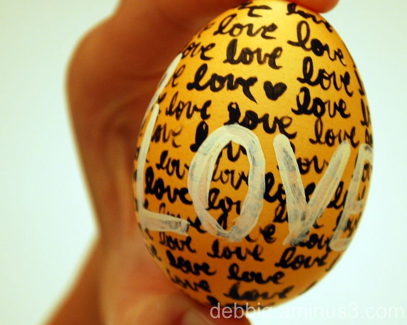 Easter egg painted