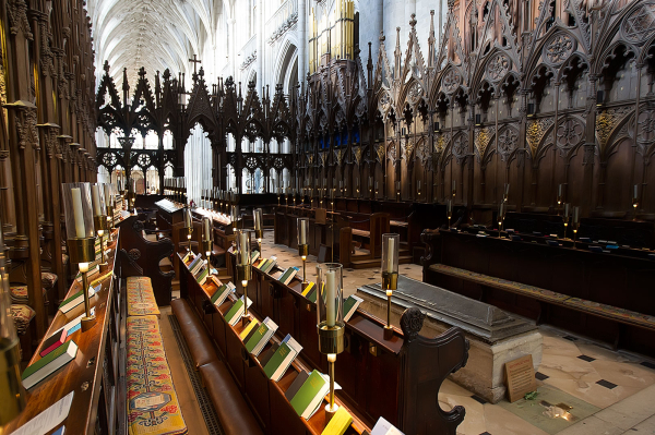 The nave and choir...